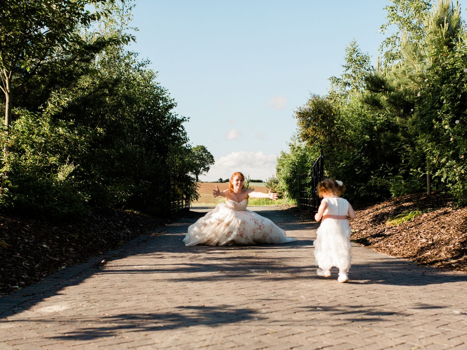 Boho Bride Alice and Flower Girl Millie