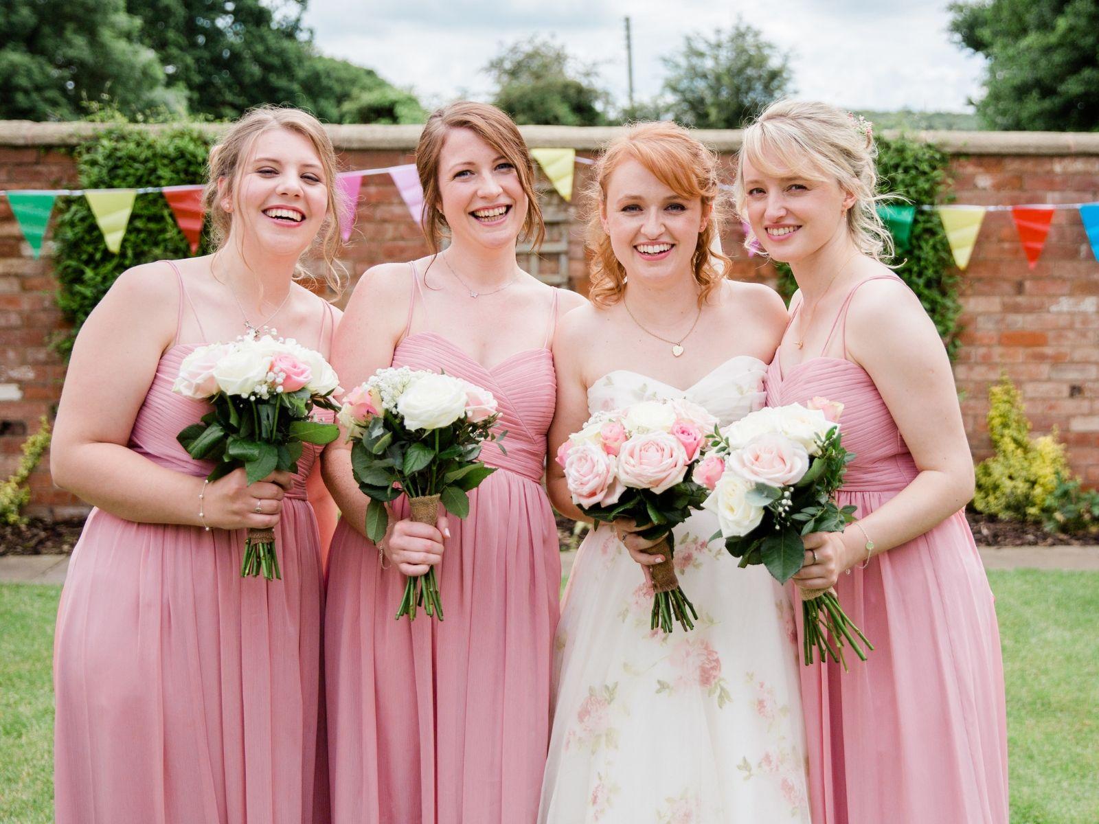 Bridal Party at Boho Bride Boutique wedding