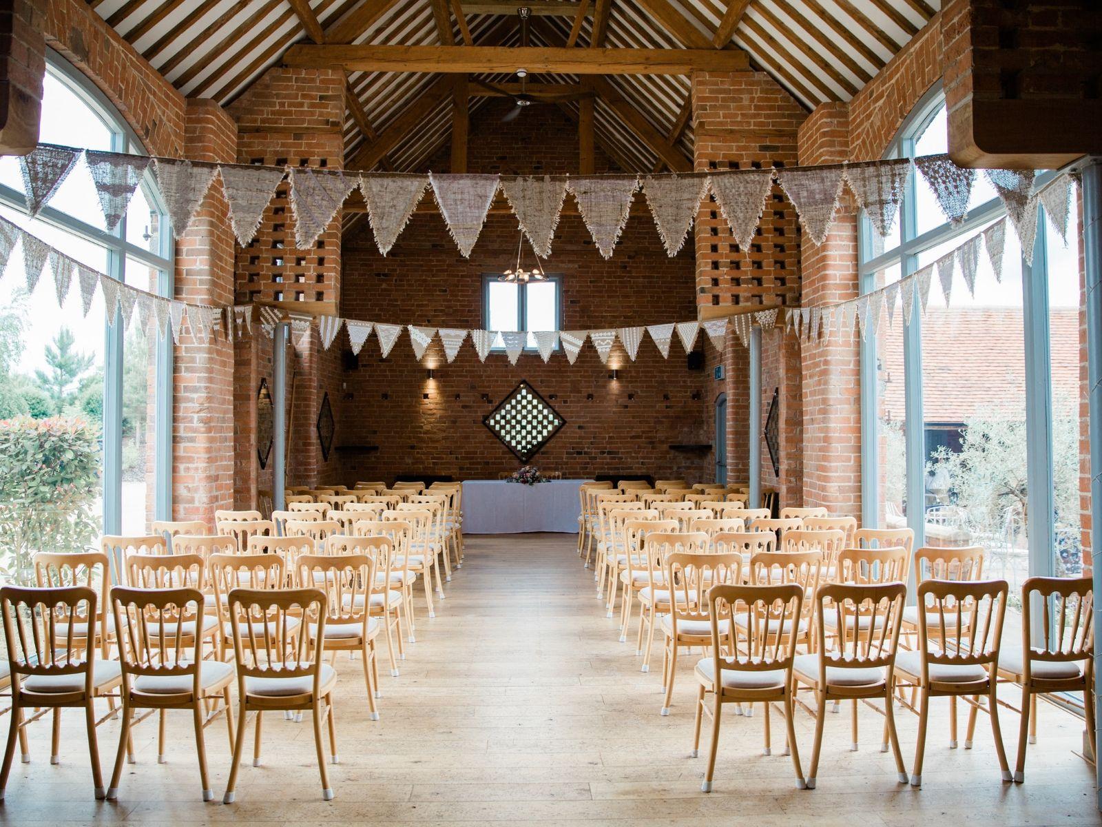 Inside Swallows Nest Barn Wedding Venue