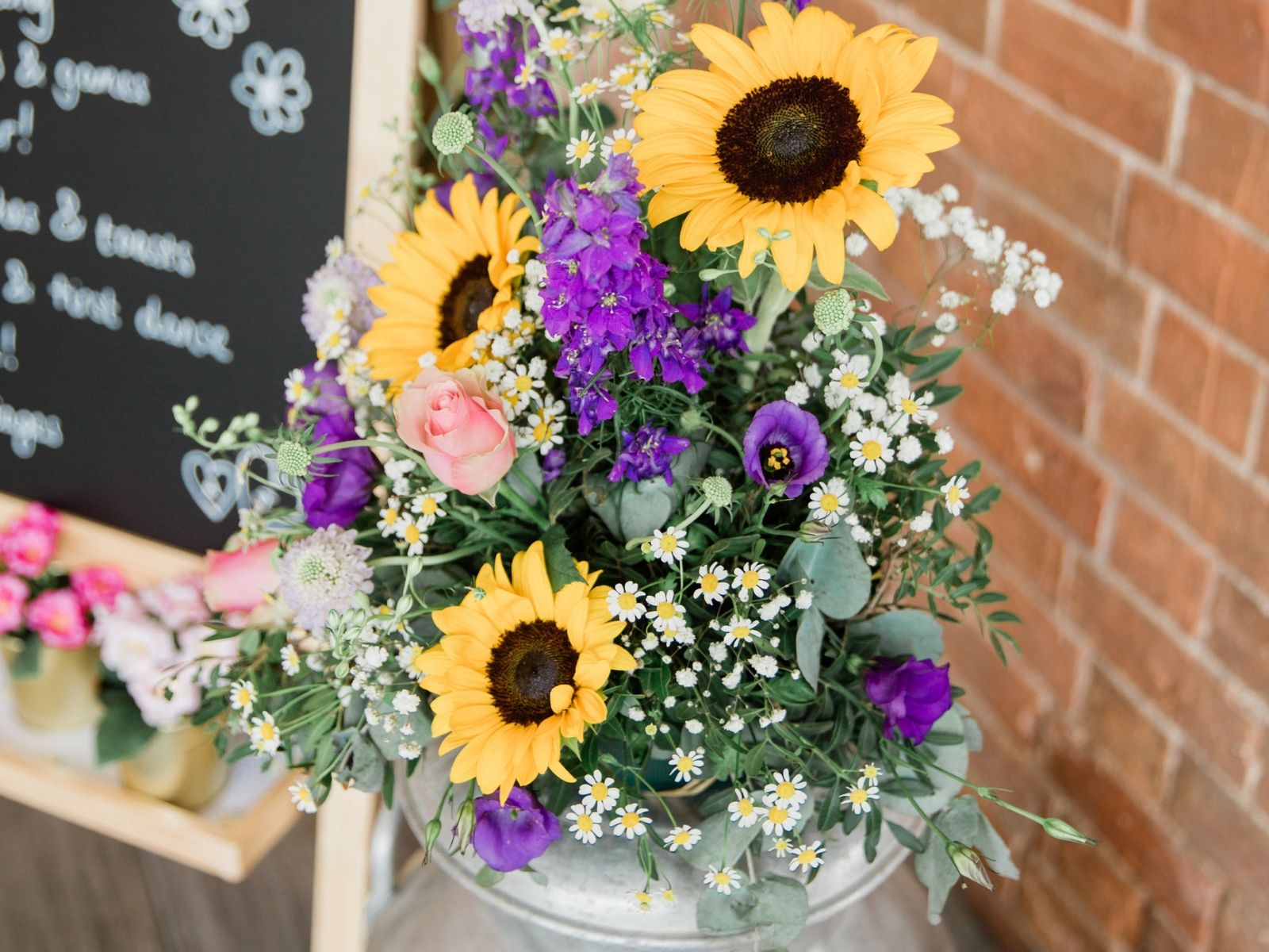 Sunflowers at Stratford-Upon-Avon Boho Bride Wedding Day